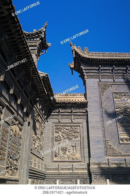 Yu Baba Gongbei chinese style mosque, Gansu province, Linxia, China