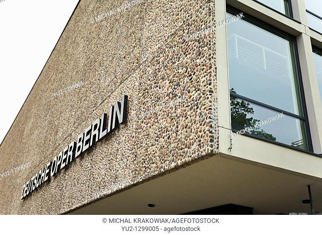 Detail of opera building in Berlin