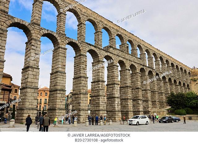 Spain, Castile-Leon, Segovia, Roman Aqueduct