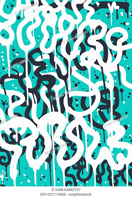 Vector fashion graffiti font. modern hand drawing retro style font texture, design elements in white, blue. Used clipping mask for easy editing