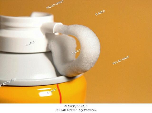 Bottle of shaving foam, wet shave