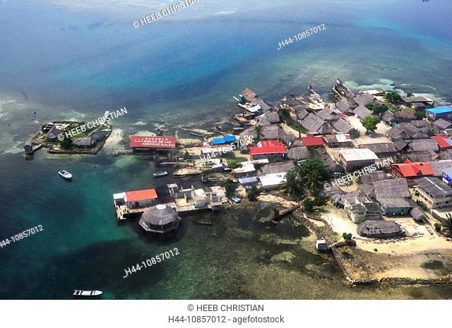 10857012, Panama, Aerial view, Island, San Blas Ar