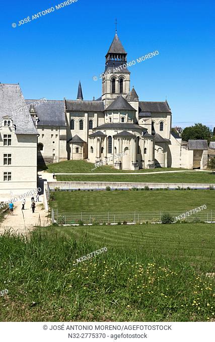 Abbey of Fontevraud, Anjou, Fontevraud l'Abbaye, Maine-et-Loire department, Pays de la Loire, Loire Valley, UNESCO World Heritage Site, France, Europe