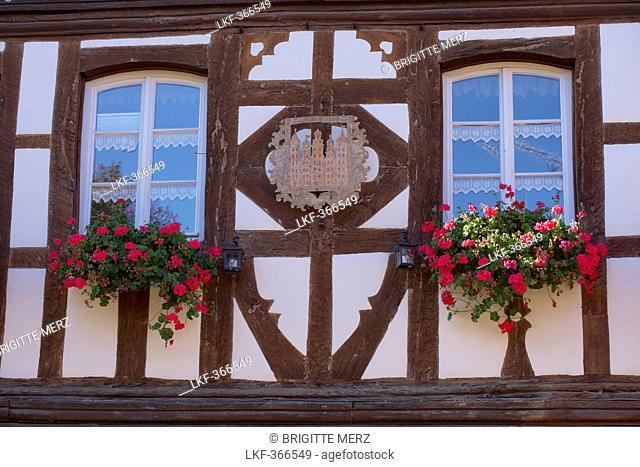 Burkheim, Historic city with half timbered houses, Kaiserstuhl, Baden Wuerttemberg, Germany, Europe