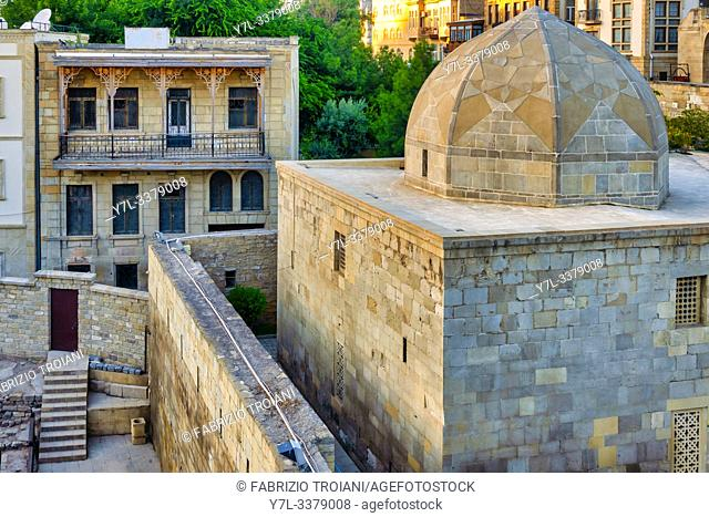 Mix of azeri traditional architecture in Icheri Sheher, Baku, Azerbaijan