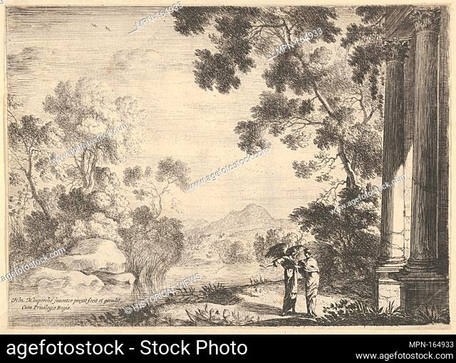 The Angel Advised Tobie (L'Ange conseillant Tobie). Artist: Henri Mauperché (French, Paris (?) ca. 1602-1686 Paris); Date: 17th century; Medium: Etching;...