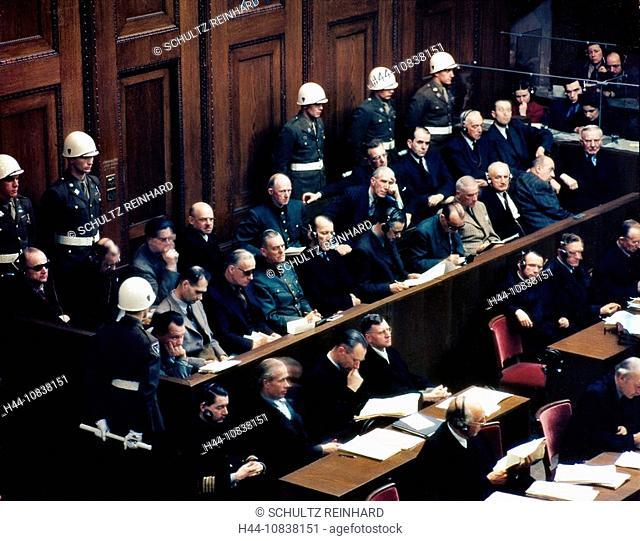 Nuremberg, 1946, International Military Tribunal, October 1, Court House, Room 600, defendants, International War Crim