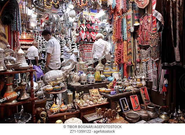 Handicrafts in the souq, Mutrah, Muscat, Oman
