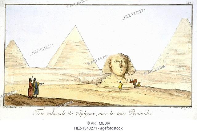 'Great Sphinx and Three Pyramids', 18th century. Found in the collection of the Schuster Gallery