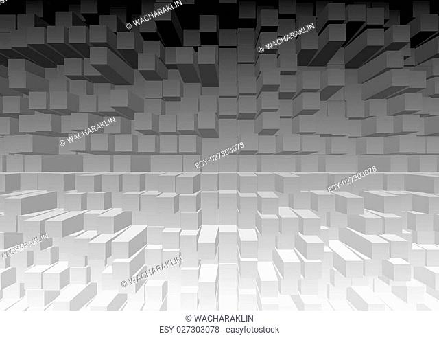 3D cubic texture pattern color background