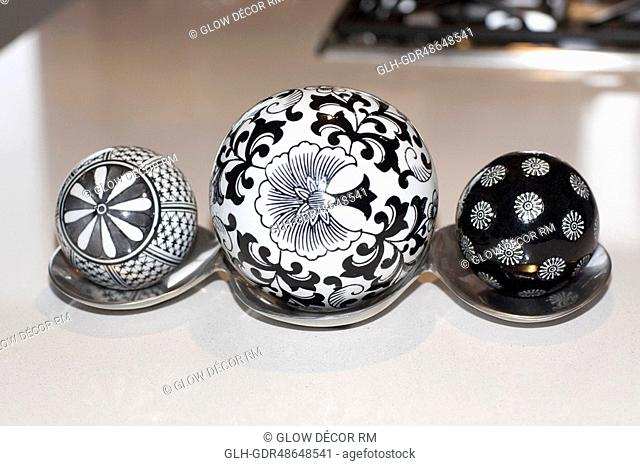 Decorative balls on a table