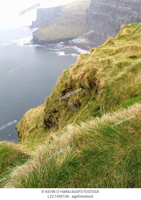 The Cliffs of Moher are located in the parish of Liscannor at the south-western edge of the Burren area near Doolin. The cliffs rise 120 meters 394 ft above the...
