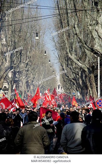 demonstration FIOM, 09.03.2012, Rome
