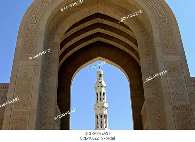 100m minaret of the Sultan Qaboos Mosque, Muscat, Oman