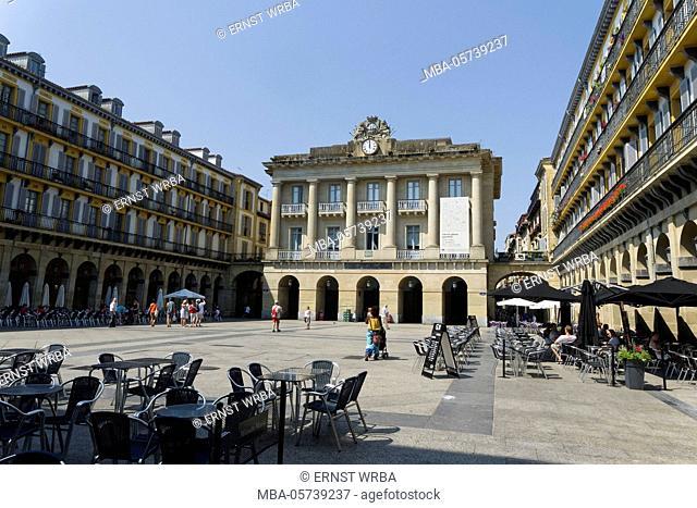 Piazza della Constitución, Old Town, Donostia-San Sebastián, Gipuzkoa, the Basque Provinces, Spain