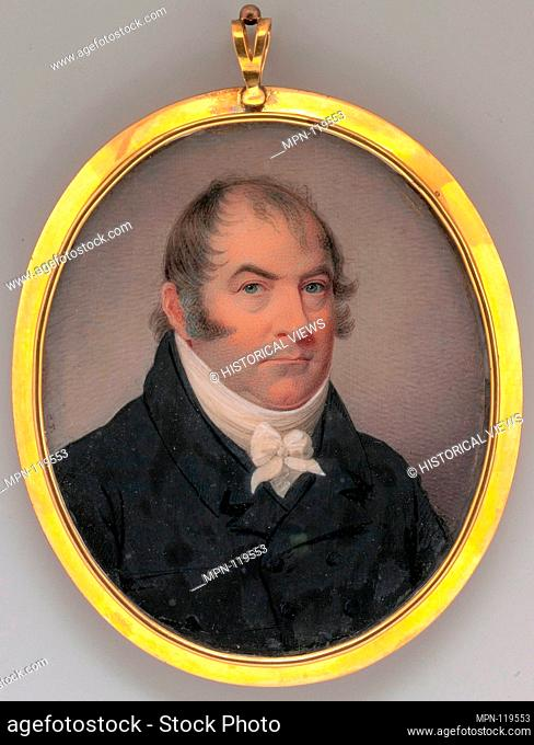 Colonel James Elliott McPherson. Artist: Charles Fraser (1782-1860); Date: 1819; Medium: Watercolor on ivory; Dimensions: 3 9/16 x 2 15/16 in. (9