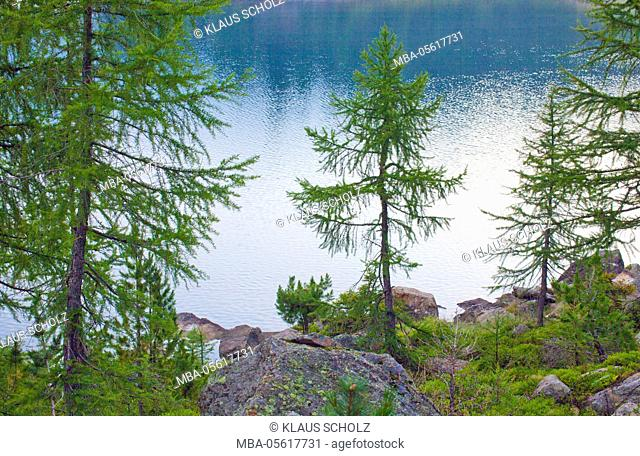 Mountain lake in the Ultental (valley)