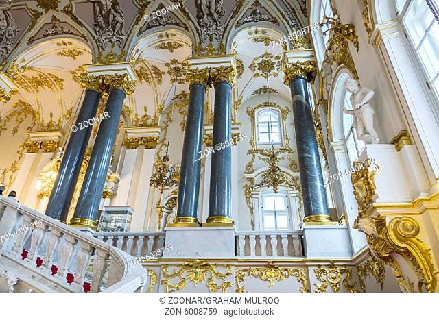 The Main Staircase The Winter Palace St. Petersburg Russia