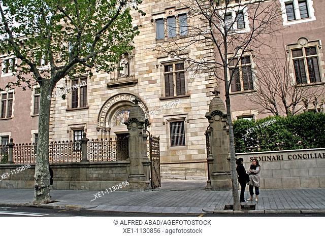 Seminary, 1904, architect: Elias Rogent, Barcelona, Catalonia, Spain