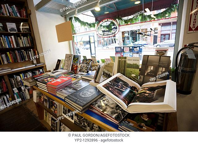 Elliott Bay Book Company - Pioneer Square, Seattle, Washington  Interior view looking out onto First Avenue