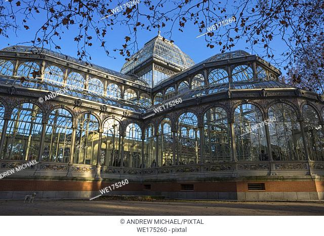 Crystal Palace at Beun Retiro Park, Madrid, Spain
