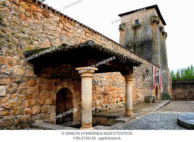 Torreón - tower of Fernán González of Castile, old town of Covarrubias, Ruta del Cid, Burgos province, Castilla-León, Castile and León, Castilla y Leon, Spain