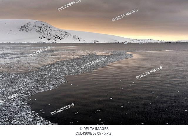 Storm clouds over Lemaire channel, Antarctica
