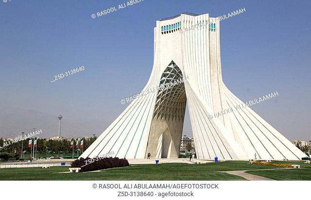 photo Azadi Tower in the Iranian capital Tehran, It is the most important monument in Iran and also called Statue of Liberty