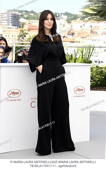 Godmother of Festival Monica Bellucci during the photocall, Cannes, FRANCE-17-05-2017