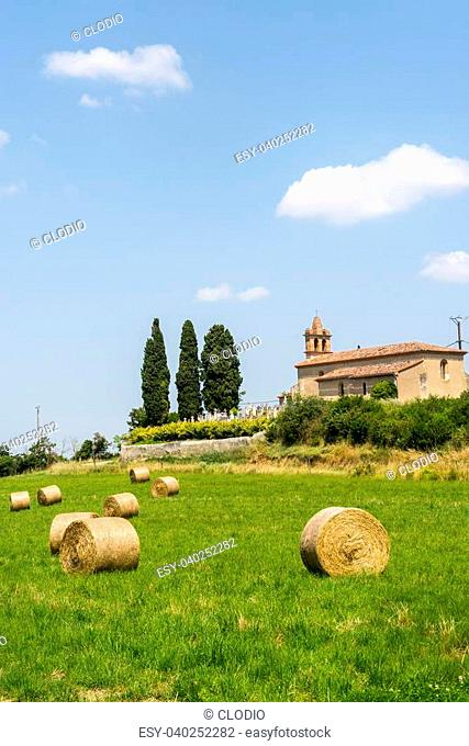 Countryside near Albi (Tarn, Midi-Pyrenees, France), at summer