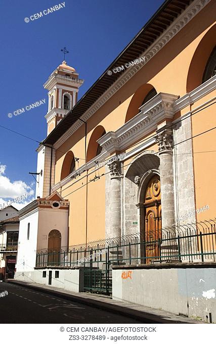 View to the Monasterio Santa Catalina De Quito-Santa Catalina Monastery at the historic center, Quito, Ecuador, South America