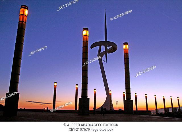 Telecommunication Tower, 1992, arch. Santiago Calatrava, Olympic Ring, Montjuic, Barcelona, Catalonia, Spain