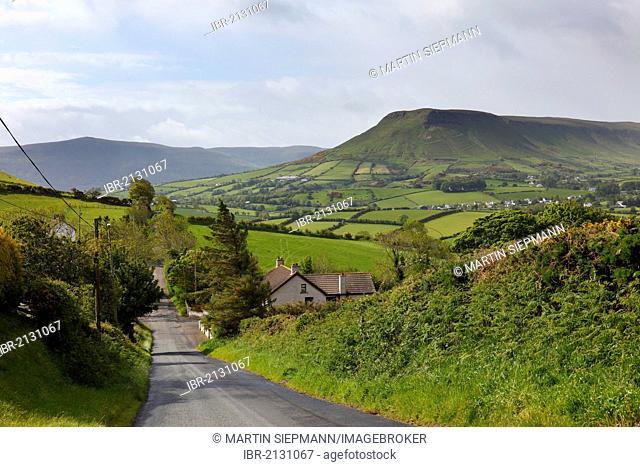 Glenballyemon Valley near Cushendall, Glens of Antrim, County Antrim, Northern Ireland, United Kingdom, Europe