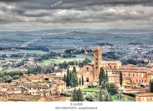 a view of Siena,Italy
