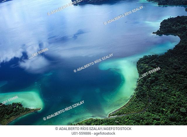 Aerial View of Miramar Lagoon Mexico