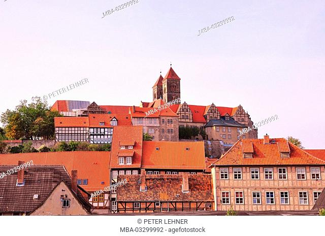 Germany, Saxony-Anhalt, Quedlinburg, castle mountain, lock church, St. Servatius