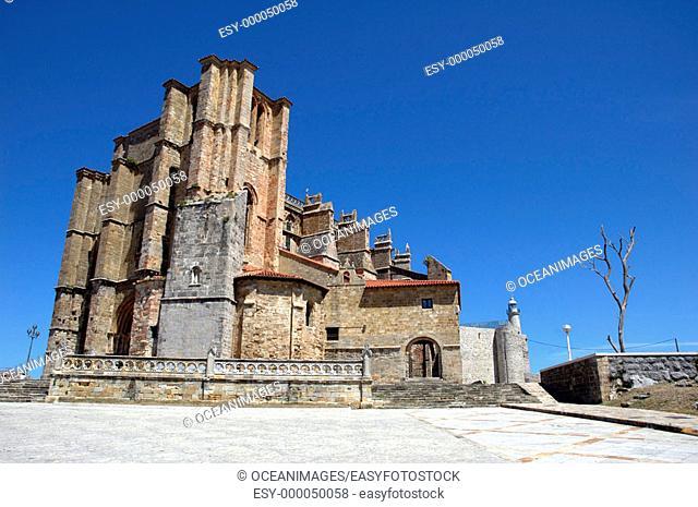 Gothic church of Santa María de la Asunción, Castro Urdiales. Cantabria, Spain