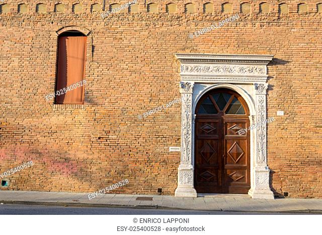 Beautiful architecture in the downtown of Ferrara