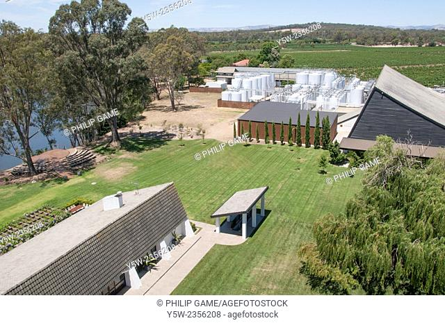 Mitchelton Winery on the Goulburn River, near Nagambie in central Victoria, Australia
