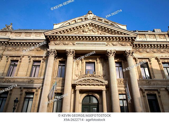 Stock Market - Bourse de Bruxells, Facade; Brussels, Belgium