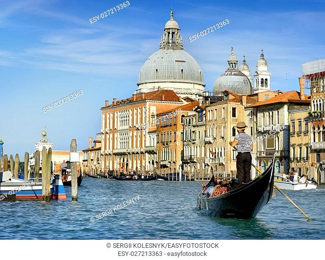Canal Grande and architecture of Venice in summer, Italy