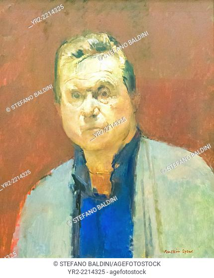 Francis Bacon by Ruskin Spear, oil on board, 1984, national portrait gallery, London, England