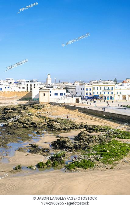 Morocco, Marrakesh-Safi (Marrakesh-Tensift-El Haouz) region, Essaouira. Medina old town, protected by 18th-century seafront ramparts, Skala de la Kasbah