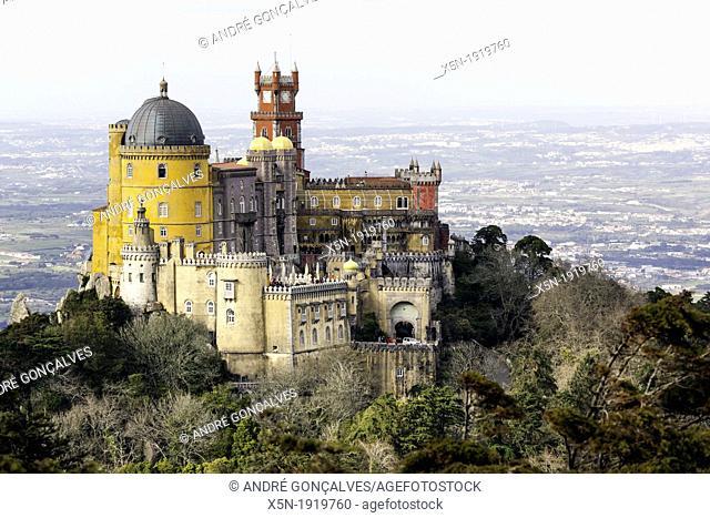 Pena Palace, Sintra Natural Park, Portugal, Europe