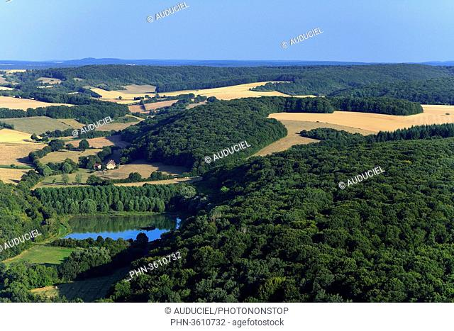 Europe, France, fields and forest in Burgundy near Donzy in the Nievre