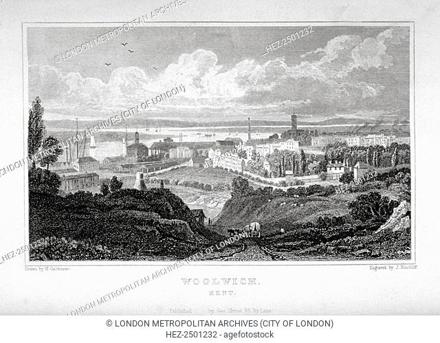 View of Woolwich with the River Thames in the distance, c1830