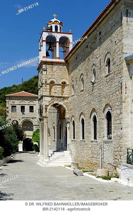 Timion Stavrou Monastery, Samos Island, Aegean Sea, southern Sporades islands, Greece, Europe