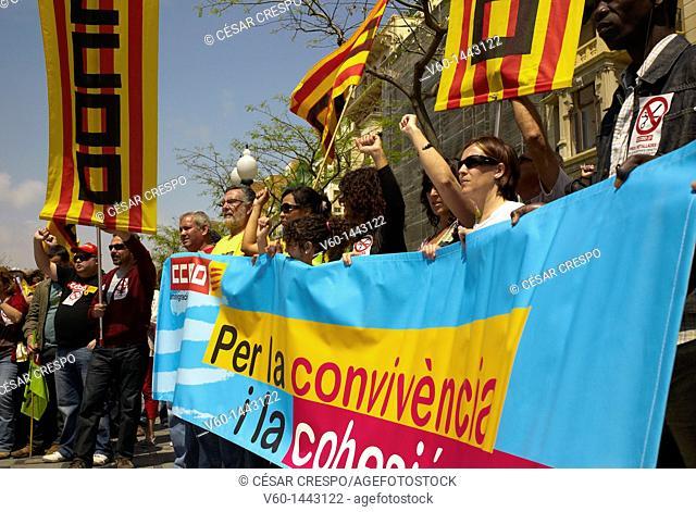 -Demonstration 1st of May in Tarragona- Catalonian (Spain)