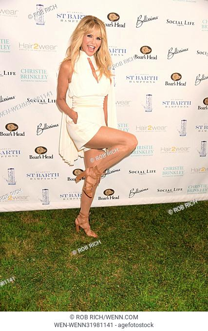 Christie Brinkley hosts fthe 6th.annual St.Barth Gala presented by Social Life magazine in the Hamptons with her son and daughter Featuring: Christie Brinkley...