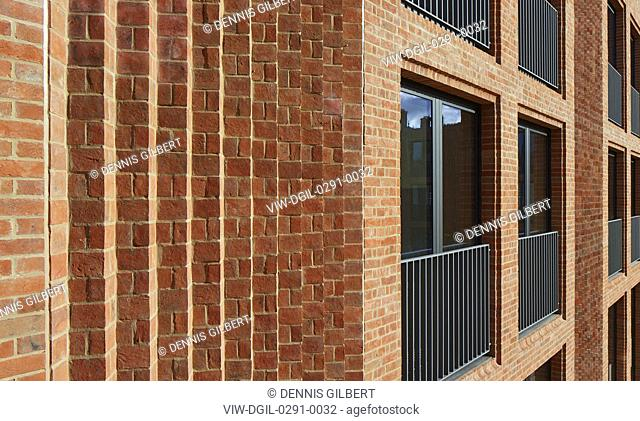 Brickwork and window detail. Newnham College, Cambridge, Cambridge, United Kingdom. Architect: Walters and Cohen Ltd, 2018
